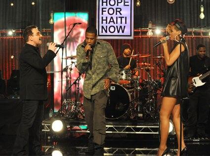 Bono, Jay Z, Rihanna, Telethon