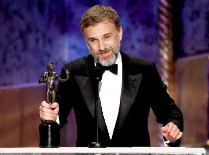 Christoph Waltz, Inglourious Basterds from SAG-Awards ...