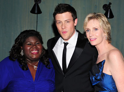 Gabourey Sidibe, cory monteith, Jane Lynch