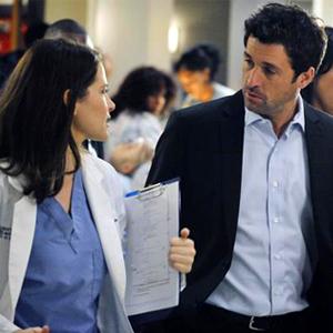 Sarah Drew, Patrick Dempsey, Grey's Anatomy