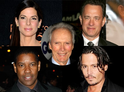 Sandra Bullock, Tom Hanks, Denzel Washington, Johnny Depp, Clint Eastwood