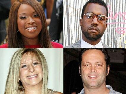 Jennifer Hudson, Vince Vaughn, Kanye West, Barbra Streisand