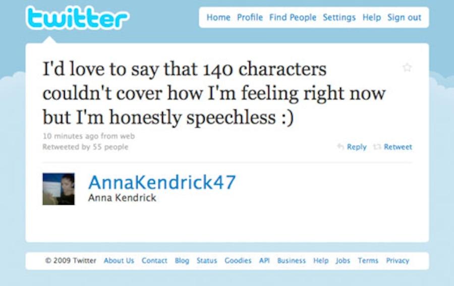 Anna Kendrick, Twitter