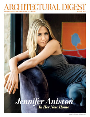Jennifer Aniston, Architectural Digest, Cover