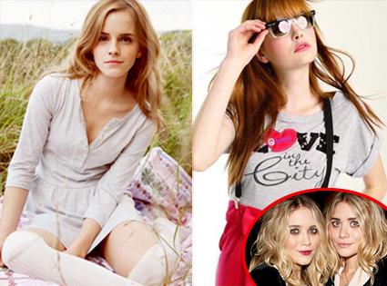 Emma Watson, Mary- Kate Olsen, Ashley Olsen
