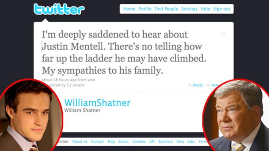 William Shatner, Twitter, Justin Mentell