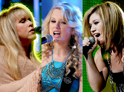 Stevie Nicks, Taylor Swift, Kelly Clarkson