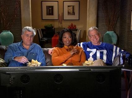 Oprah Winfrey, David Letterman, Jay Leno