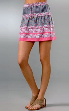 Juicy Couture Pieced Foulard Skirt