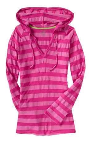 Old Navy Striped Hooded Tunic