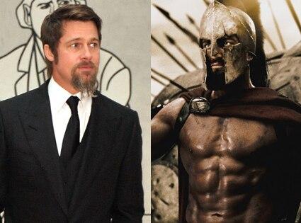 Brad Pitt, Gerard Butler, 300