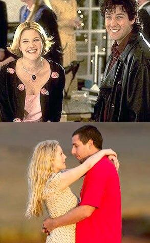 Drew Barrymore, Adam Sandler, The Wedding Singer, 50 First Dates