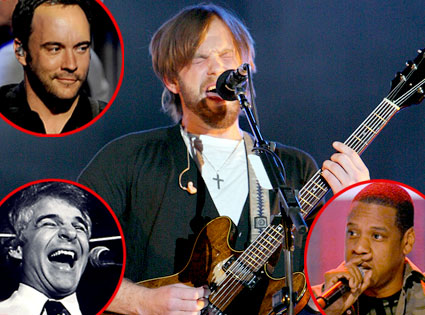 Kings of Leon, Dave Matthews Band, Steve Martin, Jay-Z