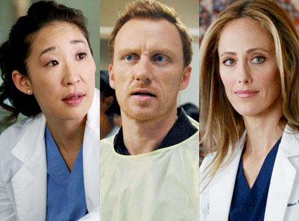 Grey's Anatomy, Kim Raver, Kevin McKidd, Sandra Oh