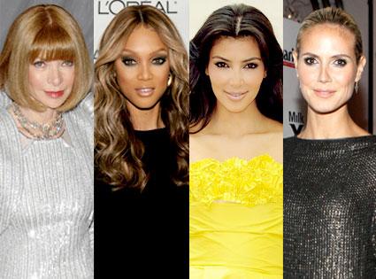 Anna Wintour, Tyra Banks, Kim Kardashian, Heidi Klum