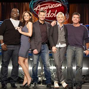 American Idol, Simon Cowell, Kara DioGuardi, Randy Jackson, Ellen Degeneres, Ryan Seacrest,