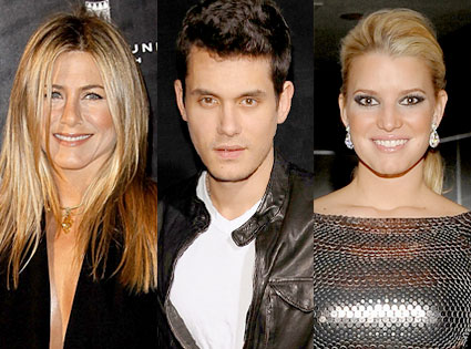 Jennifer Aniston, John Mayer, Jessica Simpson