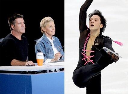 American Idol Judges, Simon Cowell, Ellen DeGeneres, Johnny Weir