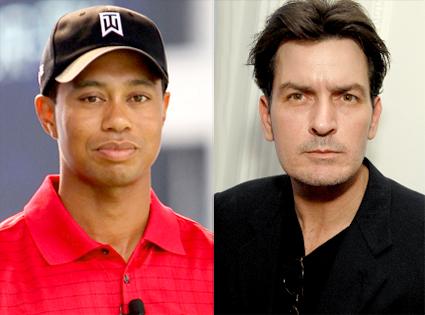 Tiger Woods, Charlie Sheen