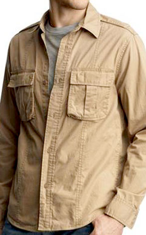 Gap Two-Pocket Safari Shirt Jacket