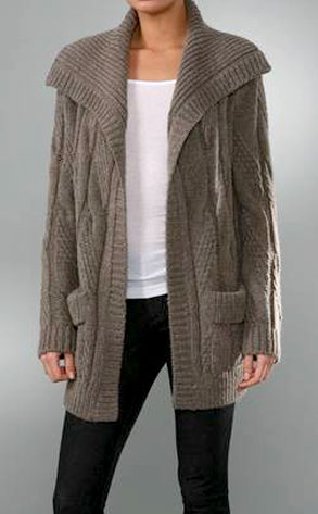 Vince Oversized Cable Cardigan