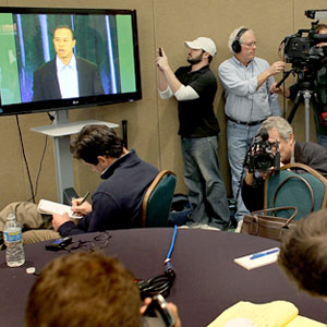 Tiger Woods, Reporters