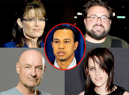 Sarah Palin, Kevin Smith, Terry O'Quinn, Kristen Stewart, Tiger Woods