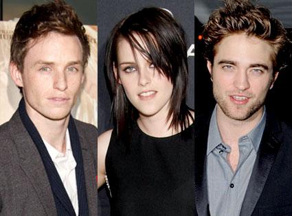 Eddie Redmayne, Kristen Stewart, Robert Pattinson