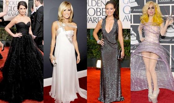 Lea Michele, Carrie Underwood, Olivia Wilde, Lady Gaga