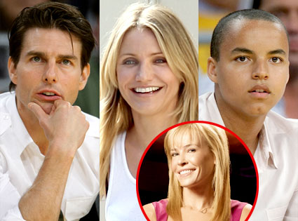 Tom Cruise, Cameron Diaz, Connor Cruise, Chelsea Handler