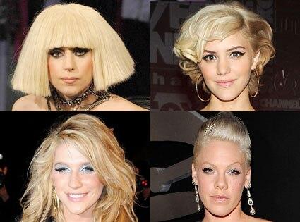 Lady Gaga, Katherine McPhee, Kesha, Pink