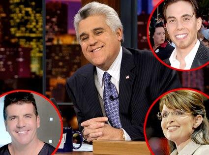 Jay Leno, Simon Cowell, Apolo Ohno, Sarah Palin