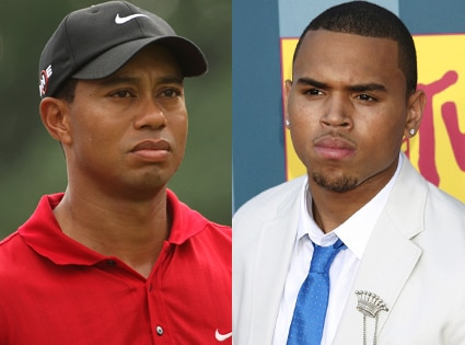 Tiger Woods, Chris Brown