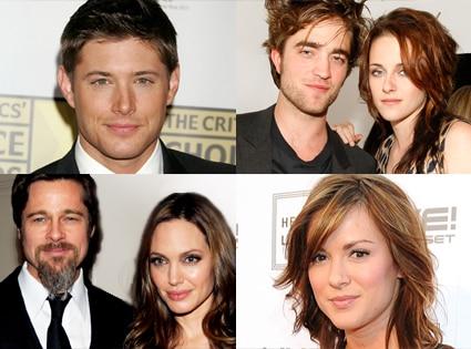 Jensen Ackles, Robert Pattinson, Kristen Stewart, Brad Pitt, Angelina Jolie, Danneel Harris