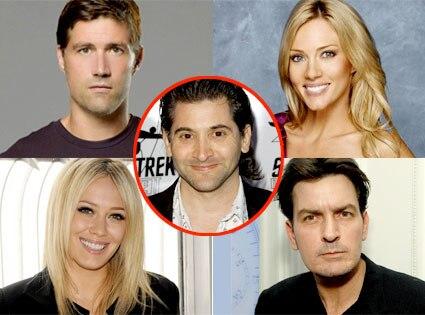 Matthew Fox, Rozlyn Papa, Hilary Duff, Charlie Sheen, Andrew Koenig