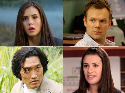 Nina Dobrev, The Vampire Diaries, Lea Michele, Glee, Joel McHale, Community, Daniel Dae Kim, Lost