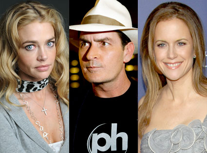 Denise Richards, Charlie Sheen, Kelly Preston