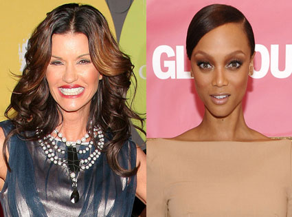 Janice Dickinson, Tyra Banks