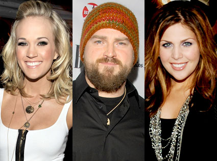 Carrie Underwood, Zac Brown, Lady Antebellum