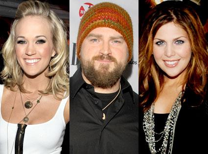 Carrie Underwood, Zac Brown, Lady Antebellum