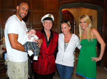 Hank Baskett, Hugh Hefner, Kendra Wilkinson-Baskett, Crystal Harris