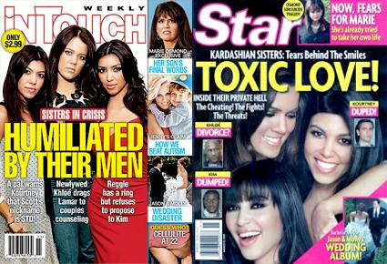 Kim Kardashian, Kourtney Kardashian, Khloe Kardashian, InTouch Magazine, Star Magazine, Cover