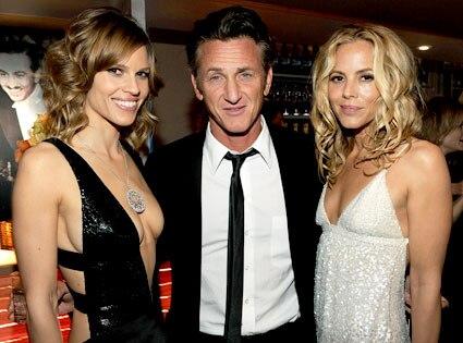 Hilary Swank, Sean Penn, Maria Bello