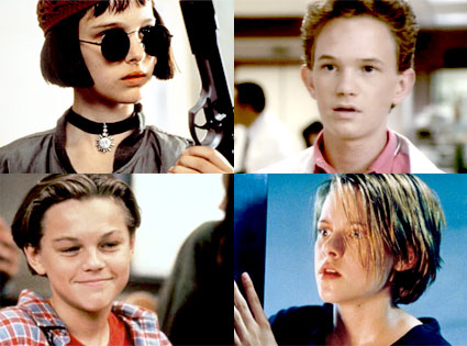 Natalie Portman, The Professional, Neil Patrick Harris, Doogie Howser, Leonardo DiCaprio, Growing Pains, Kristen Stewart, Panic Room