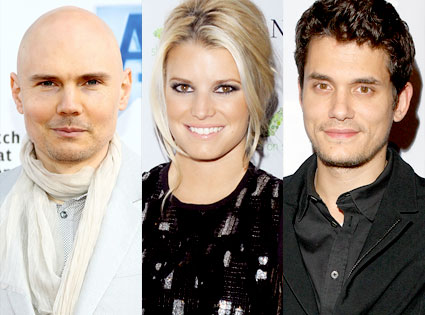 Billy Corgan, Jessica Simpson, John Mayer