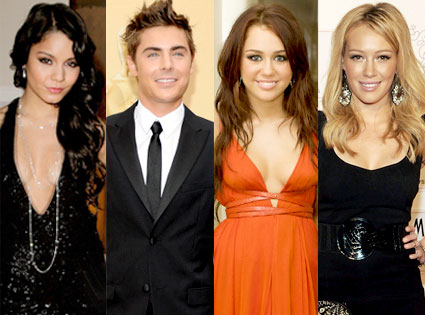 Vanessa Hudgens, Zac Efron, Miley Cyrus, Hilary Duff