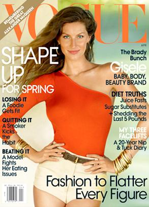 Gisele Bunchen, Vogue, Cover