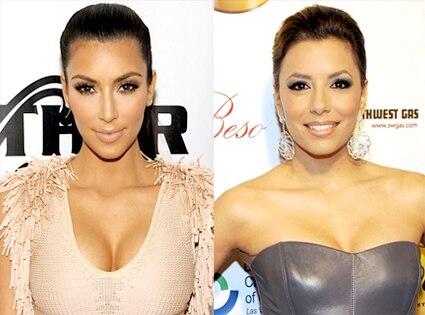 Kim Kardashian, Eva Longoria Parker
