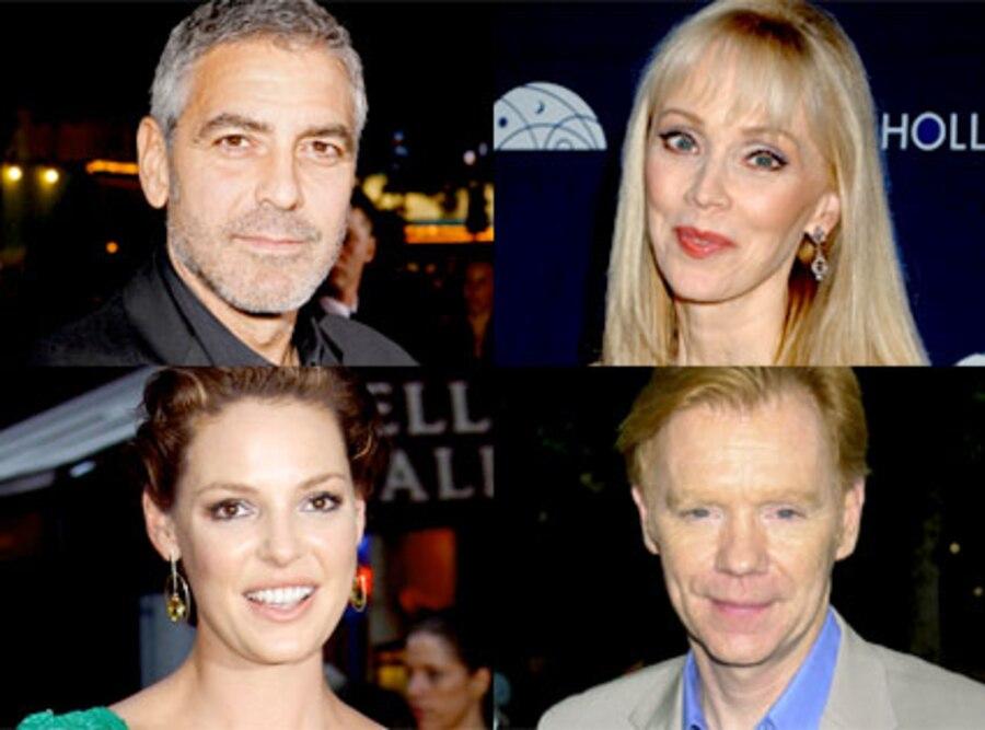 George Clooney, Shelley Long, Katherine Heigl, David Caruso
