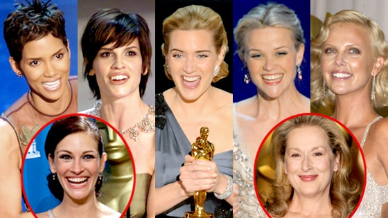 Halle Berry, Hilary Swank, Kate Winslet, Reese Witherspoon, Charlize Theron, Julia Roberts, Meryl Streep